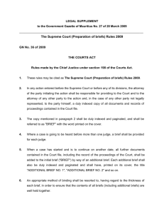 The Supreme Court (Preparation of briefs) Rules 2009