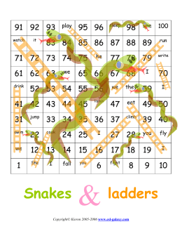 snakes and ladders: practice gerunds