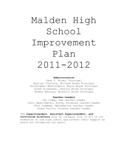 Malden High School - maldenneasc