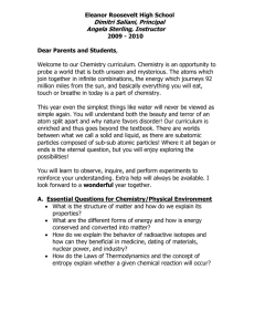 Chemistry Syllabus - Eleanor Roosevelt High School