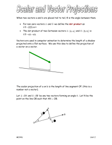 scalar projections notes-teacher notes