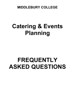 Catering FAQ - Middlebury College
