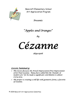CÉZANNE LESSON Plan