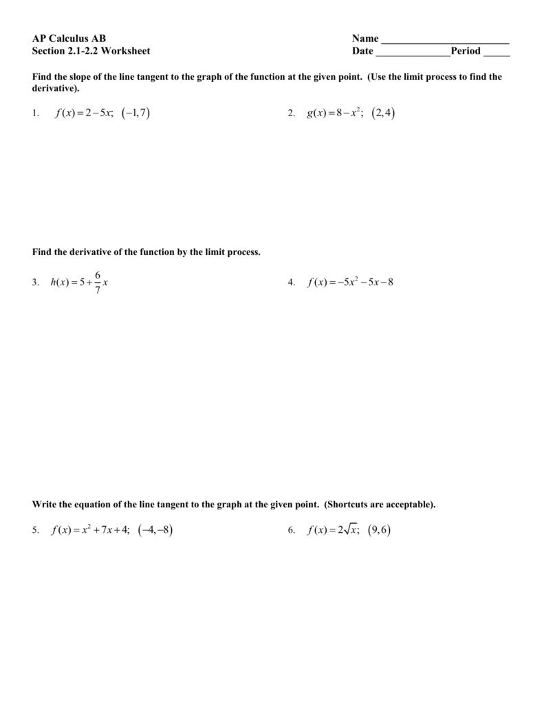 2.1-2.2 worksheet