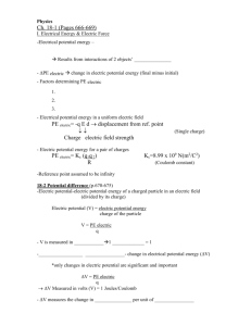 Chapter 18 - Capacitance notes