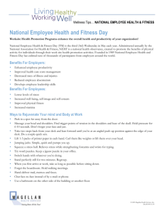 National Employee Health and Fitness Day