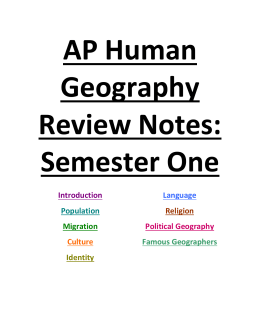 ap human geography notes My courses world history ap human geography homepage ap human  geography notes ap human geography schedule summer assignment.