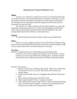 limiting reagent lab vinegar and baking soda
