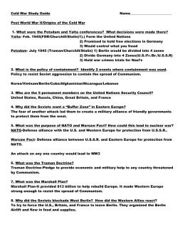 the cold war rh studylib net Antigone Study Guide Answers Antigone Study Guide Answers