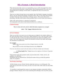 mla worksheet practice answers