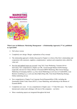 What is new in the 2nd edition of Marketing Management?