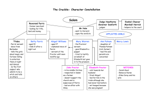 The Crucible- Character Constellation