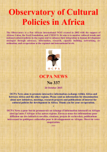 Observatory of Cultural Policies in Africa