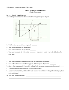 Phase Diagram Worksheet - Montgomery County Schools