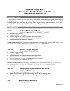 RESUME - North South University