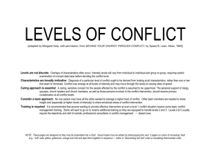 Levels of Conflict - Vital Congregations
