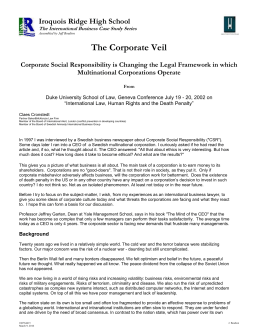 The Corporate Veil
