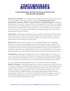 New_Board_Members - Contemporary Jewish Museum