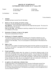 Minutes from January 2009 - Hastingleigh Parish Council
