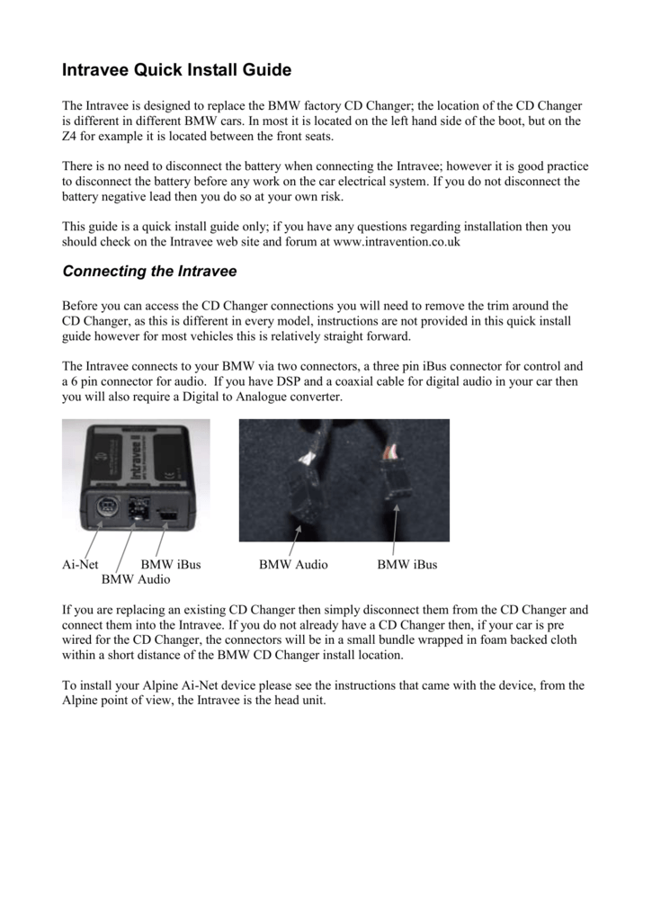 Intravee Quick Install Guide