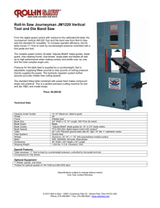 "Here's ""The Original"" - Model EF1459 – The Bandsaw that Cuts"