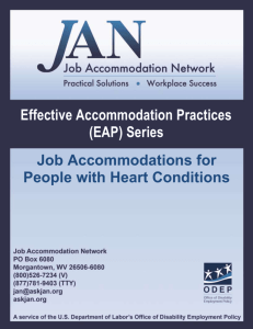 Effective Accommodation Practices Series: Heart Conditions