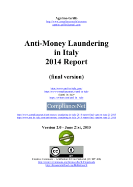 AML in Italy - 2014 Report