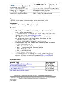 Mount Sinai Hospital (MSH) and Toronto Medical Laboratories (TML