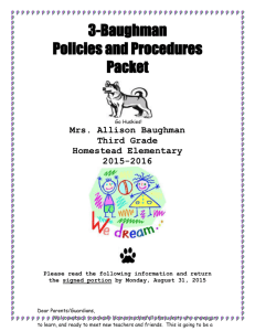 3-Baughman Class Policies and Procedures