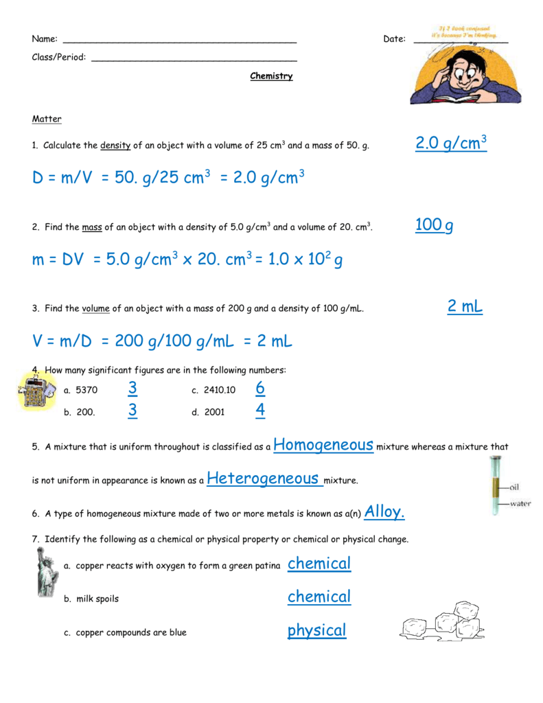 CP Chemistry Final Exam Review Sheet