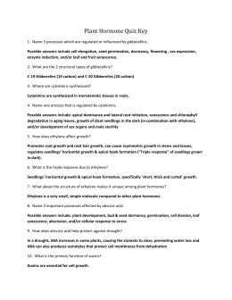 Plant Tropisms Cloze Worksheet