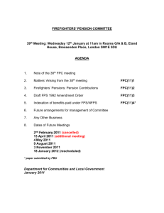 Agenda of the 39th FPC - Department for Communities and Local