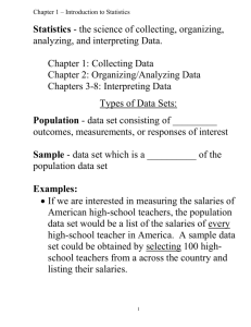 the science of collecting, organizing, analyzing, and interpreting Data