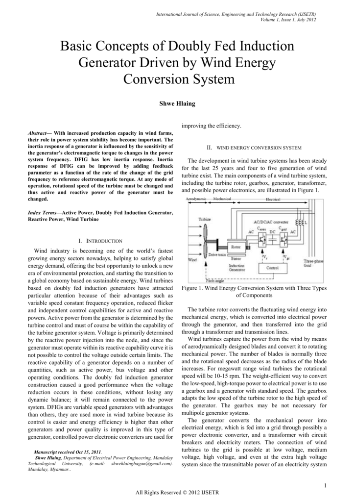 II wind energy conversion system