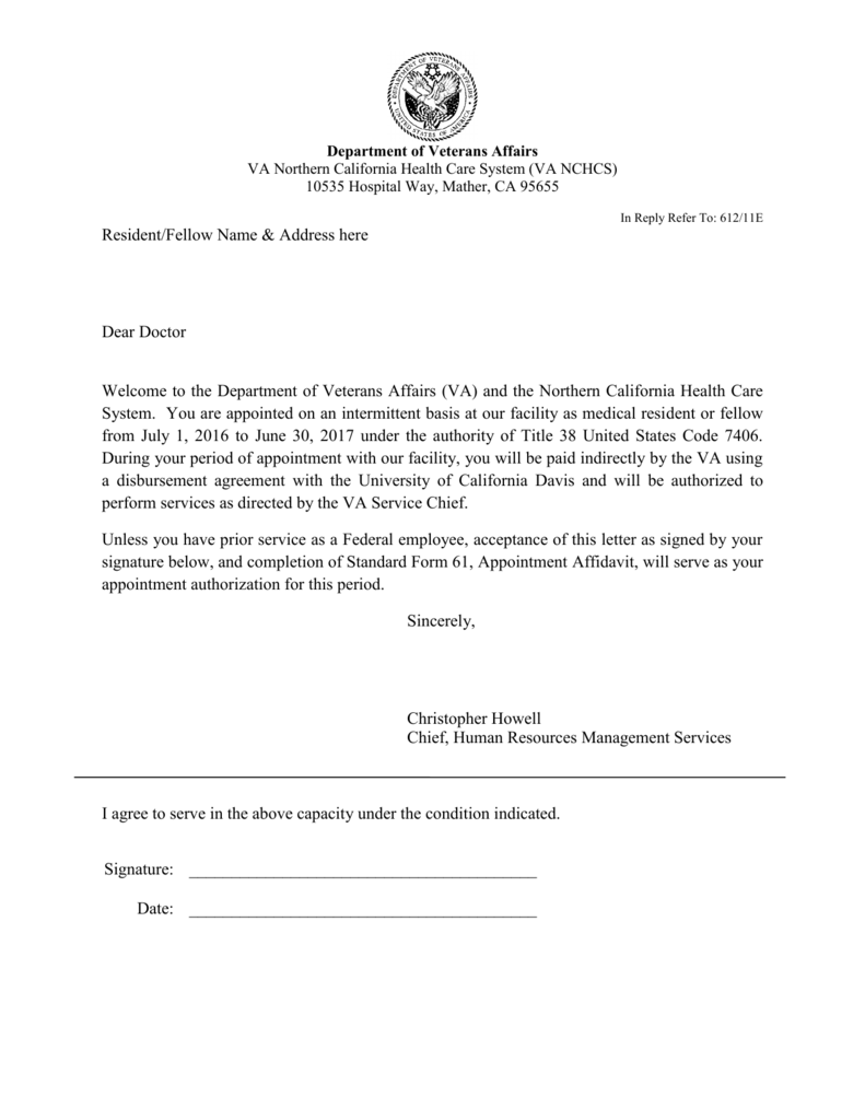 Human Resources Appointment Letter