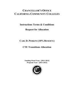 Chancellor's Office California Community Colleges Instructions