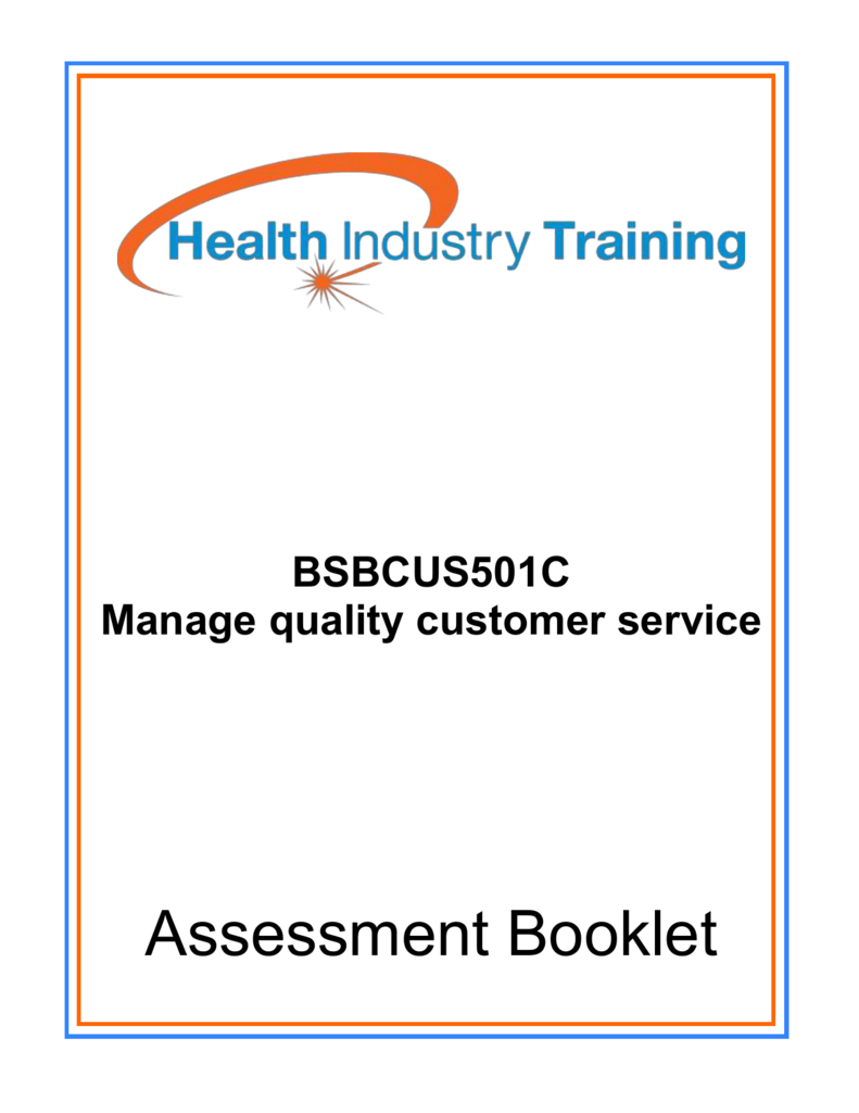 manage quality customer service bsbcus501c answers
