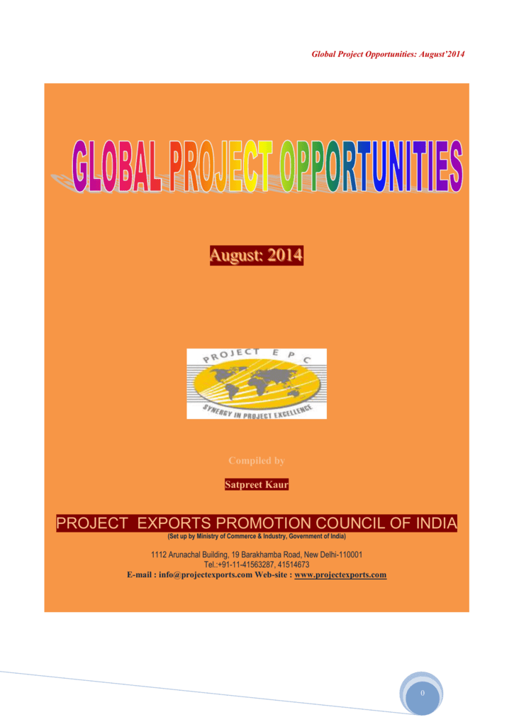 GPO 08- 2014 () - Project Exports Promotion Council of India