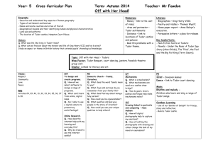 Year: 5 Cross Curricular Plan Term: Autumn 2014 Teacher: Mr