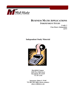 Business Math Applications - Mid
