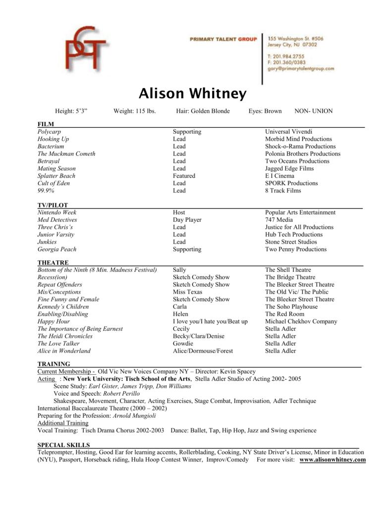 Alison Whitney film - alison whitney