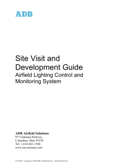 Site Visit & Development Guide