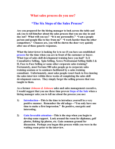 The Six Steps Of The Sales Process