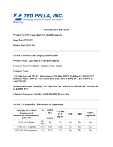 Material Safety Data Sheet Product No. 16051 Aquadag® E