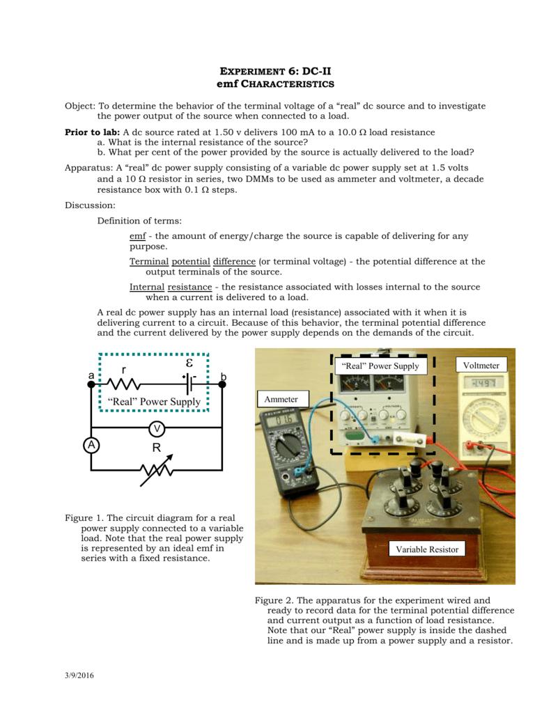 Lab6 Circuit Diagram Variable Resistor