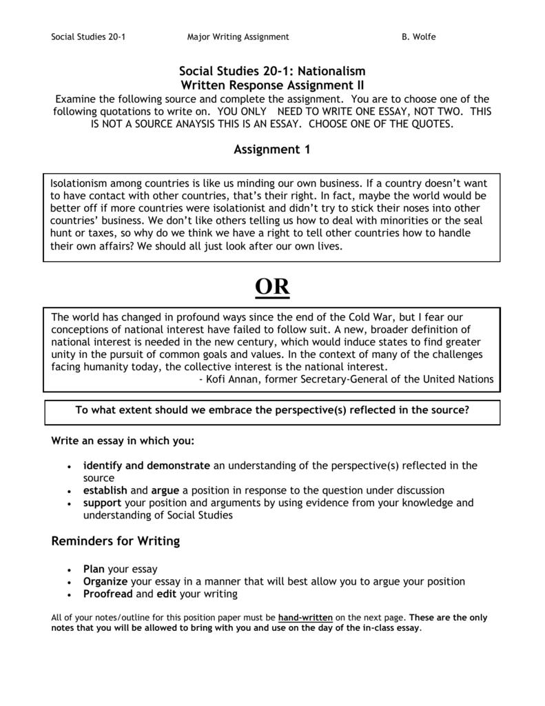 academic position paper