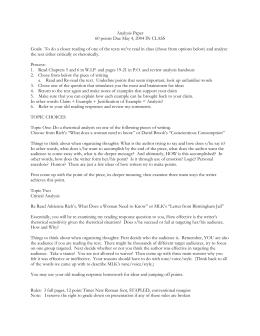 Text Analysis Activities