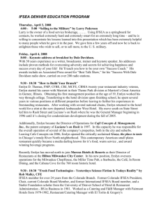 IFSEA SAN DIEGO CONFERENCE SCHEDULE