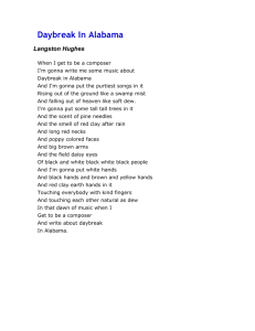 Daybreak In Alabama and other langston hughes