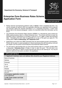 Department for Business, Enterprise - Business Wales